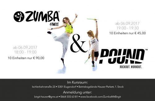 Zumba & Poundfit 2017 Herbst