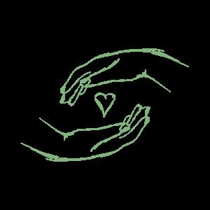 Eva Heilende Hände Grafik